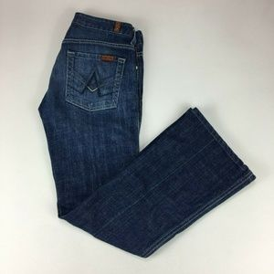 7 For All Mankind A Pocket Flare Womens Jeans